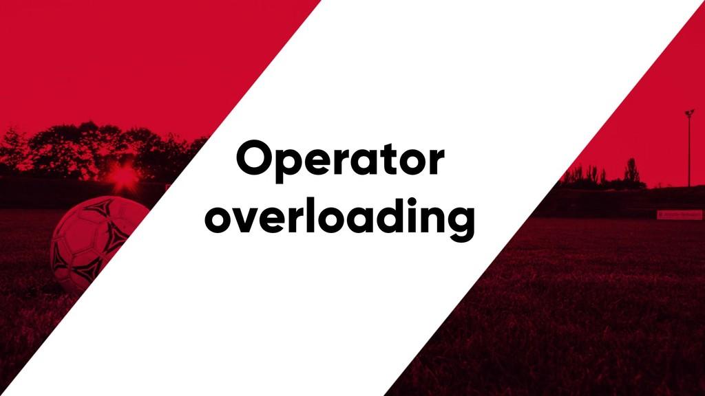 @PreusslerBerlin Operator overloading