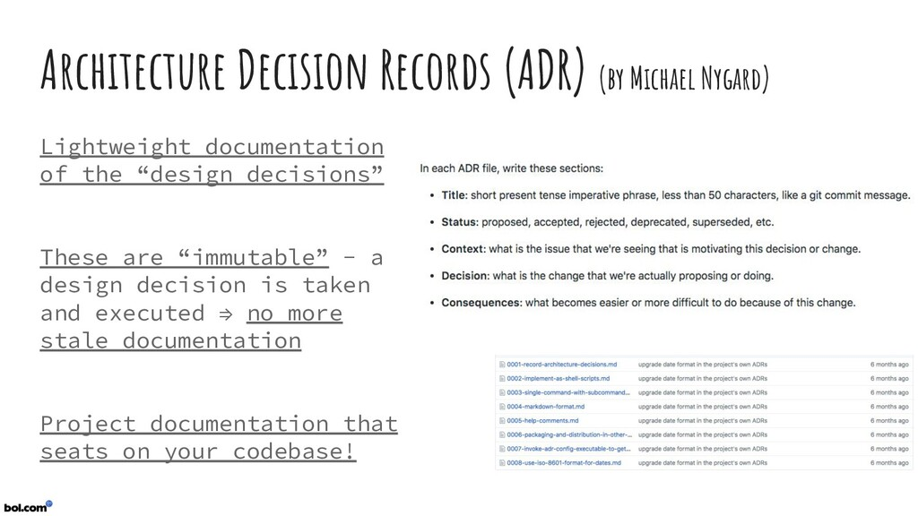 Architecture Decision Records (ADR) (by Michael...