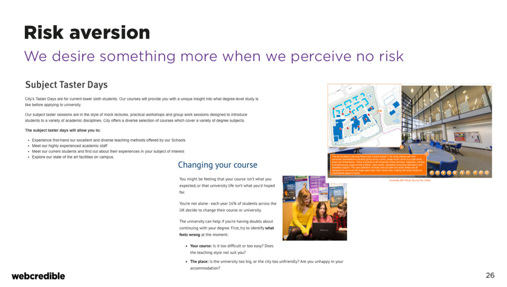 Risk aversion 26 We desire something more when ...