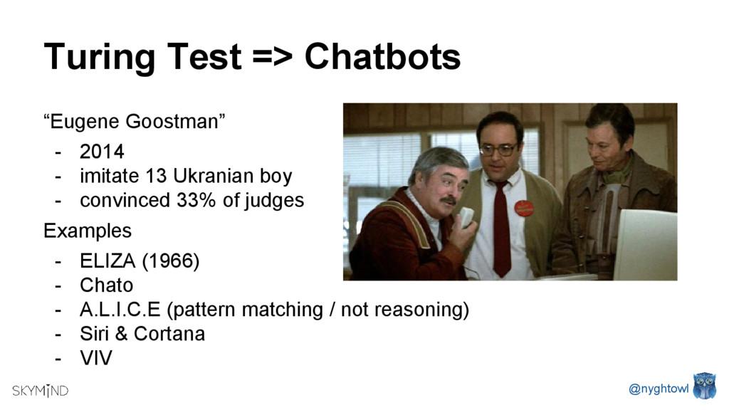 """Turing Test => Chatbots """"Eugene Goostman"""" - 201..."""