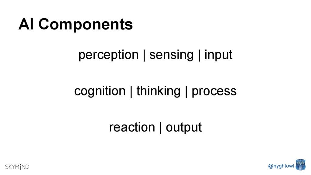 AI Components perception   sensing   input cogn...
