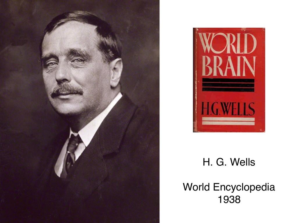 H. G. Wells  World Encyclopedia 1938