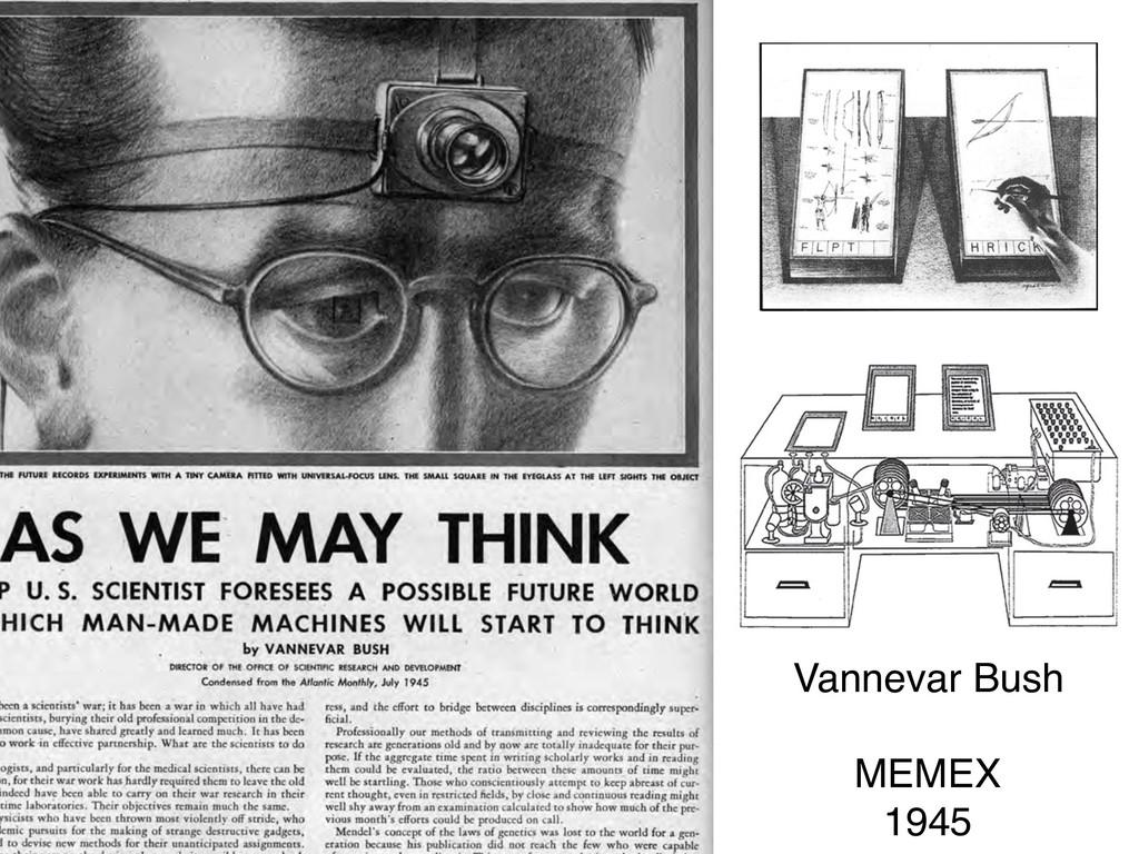 Vannevar Bush  MEMEX 1945