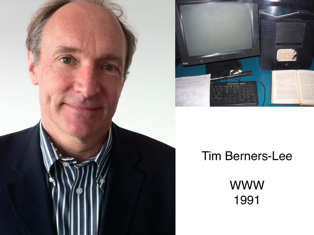 Tim Berners-Lee WWW  1991