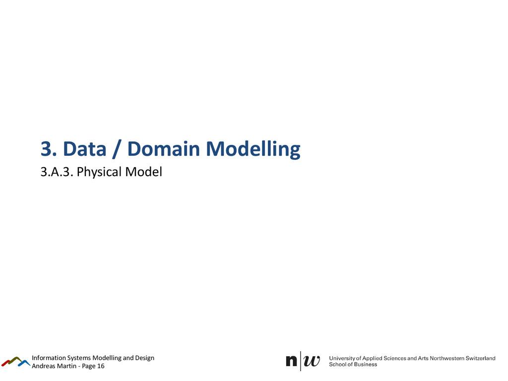 Andreas Martin - Page 16 3. Data / Domain Model...