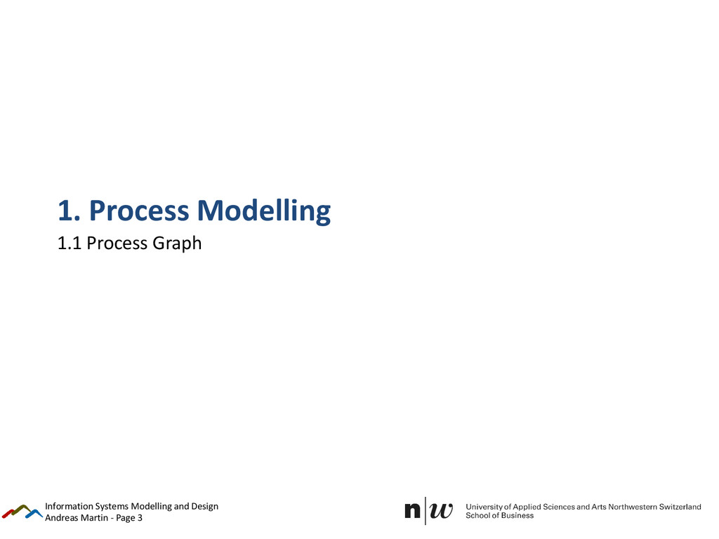 Andreas Martin - Page 3 1. Process Modelling 1....
