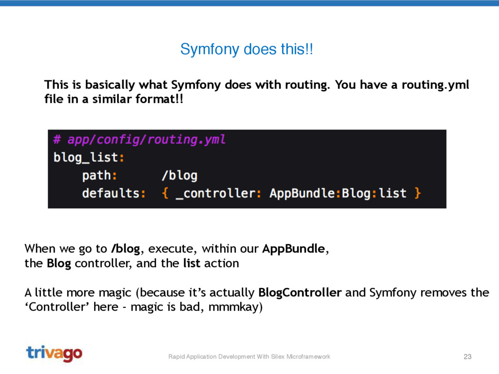 23 Symfony does this!! Rapid Application Develo...