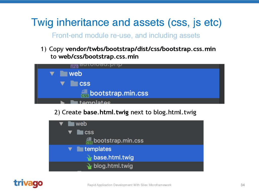 34 Twig inheritance and assets (css, js etc) Fr...