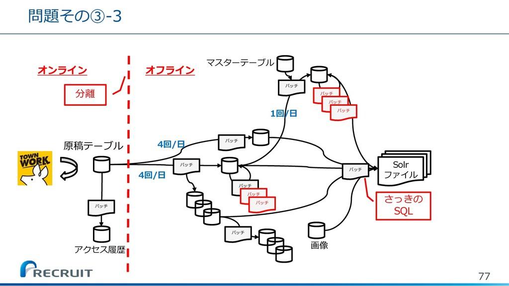 問題その③-3 77 バッチ バッチ バッチ バッチ バッチ バッチ 原稿テーブル バッチ マ...
