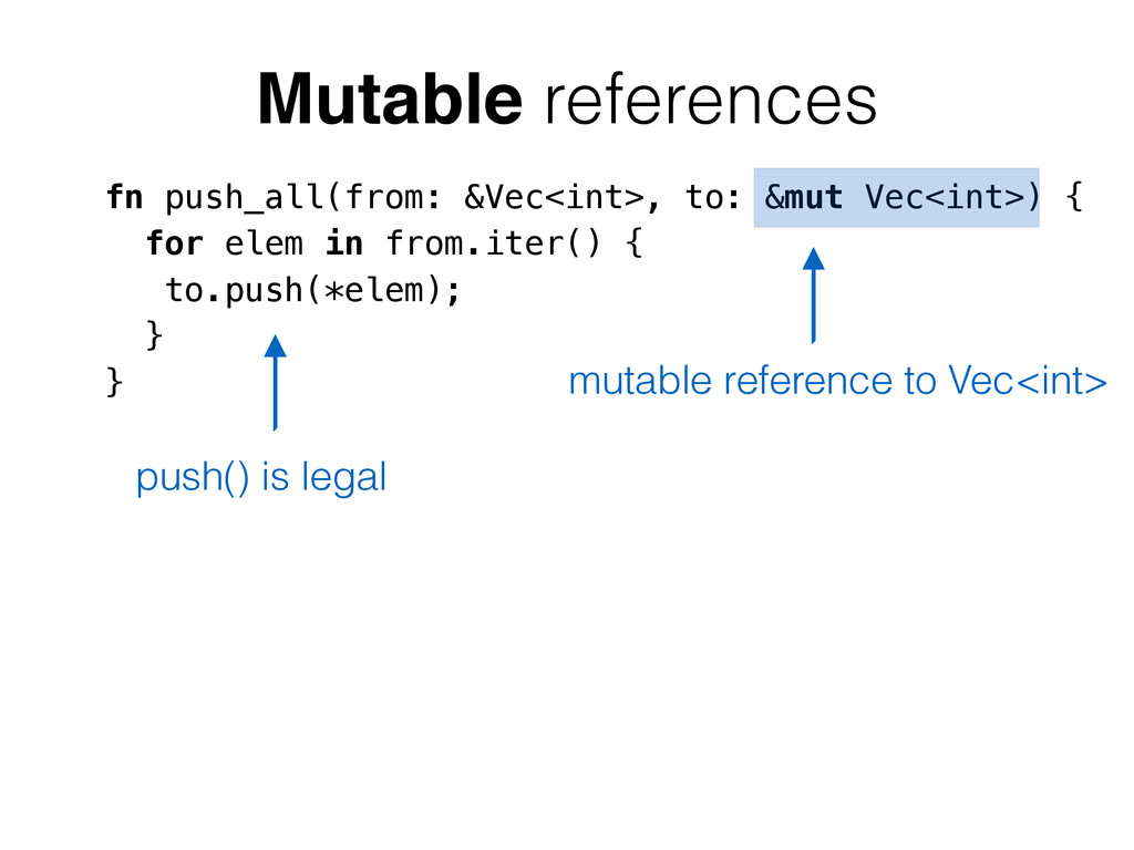 fn push_all(from: &Vec<int>, to: &mut Vec<int>)...
