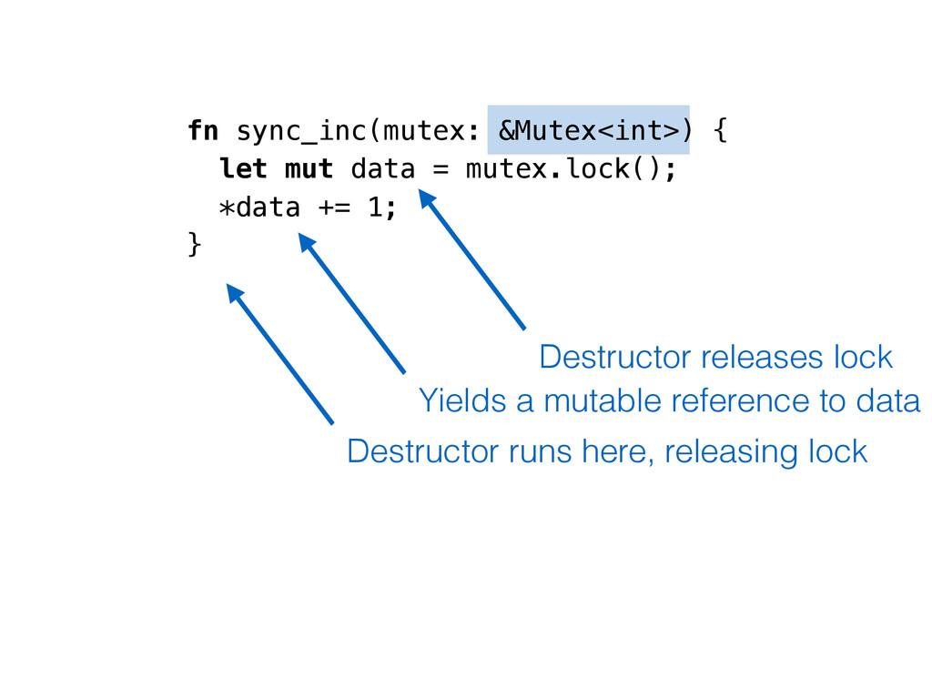 fn sync_inc(mutex: &Mutex<int>) { let mut data ...