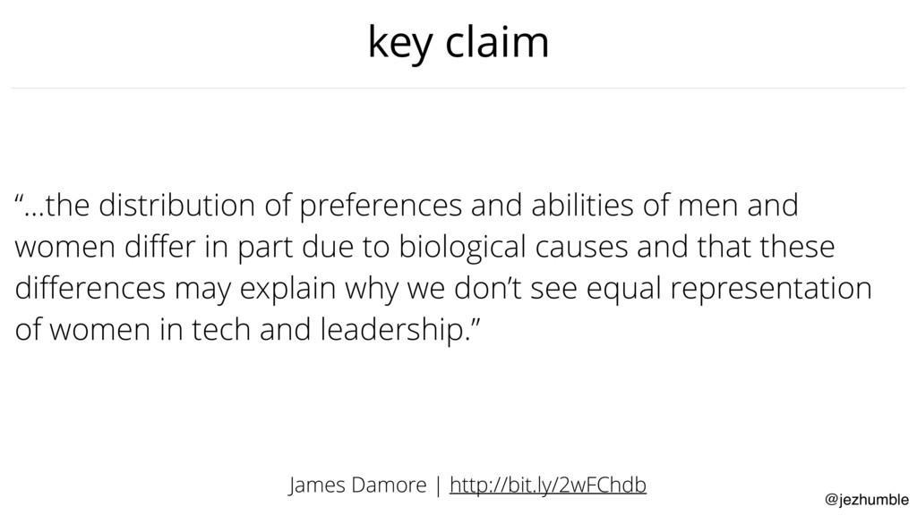 "@jezhumble key claim ""…the distribution of pref..."