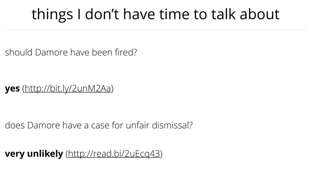 does Damore have a case for unfair dismissal? s...