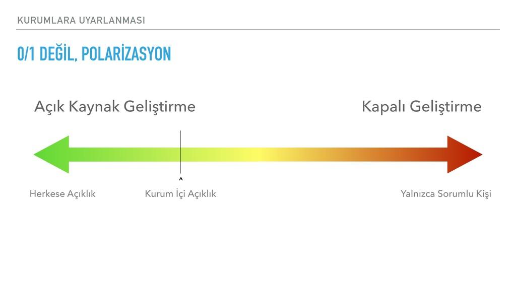 KURUMLARA UYARLANMASI 0/1 DEĞİL, POLARİZASYON A...