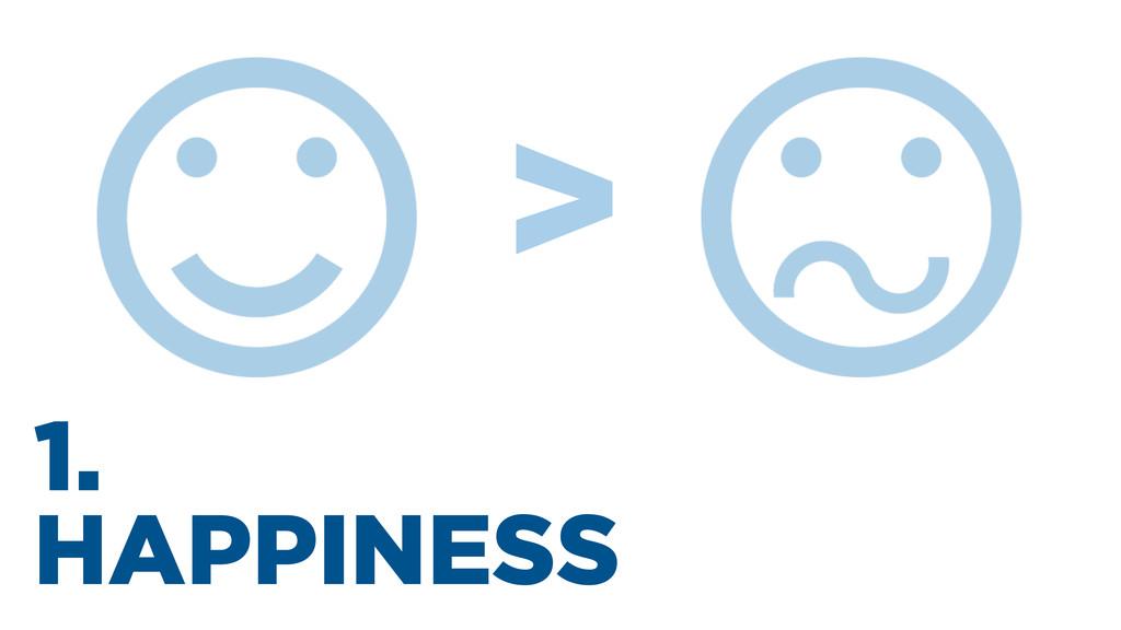 1. HAPPINESS >