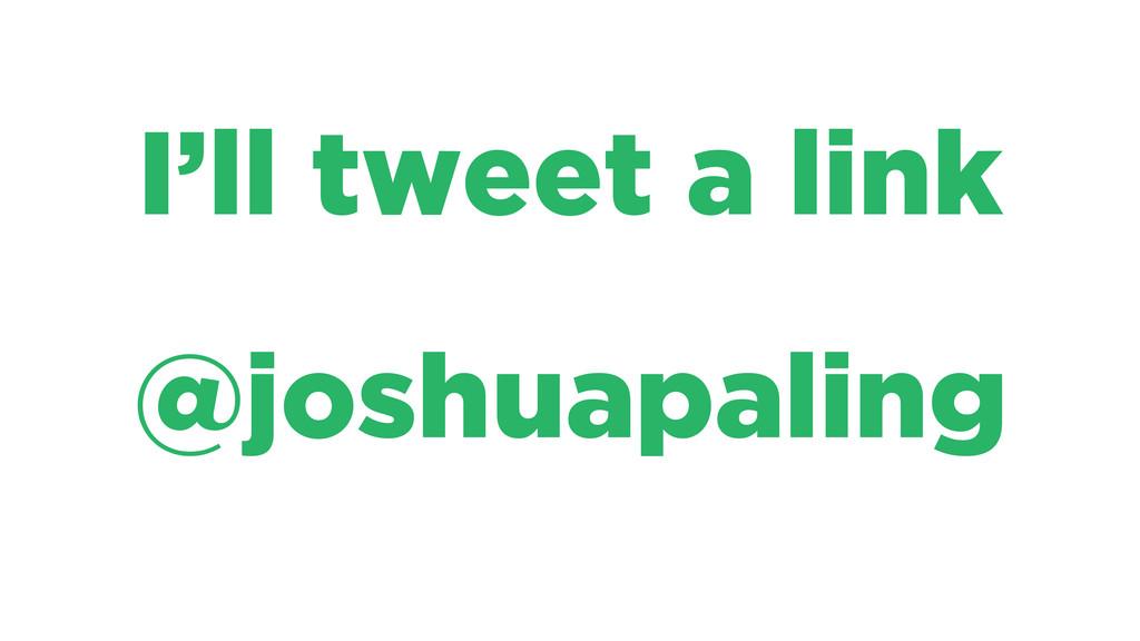 I'll tweet a link @joshuapaling