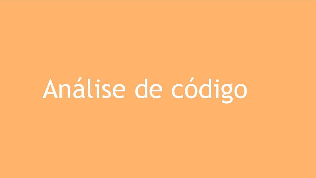 Análise de código