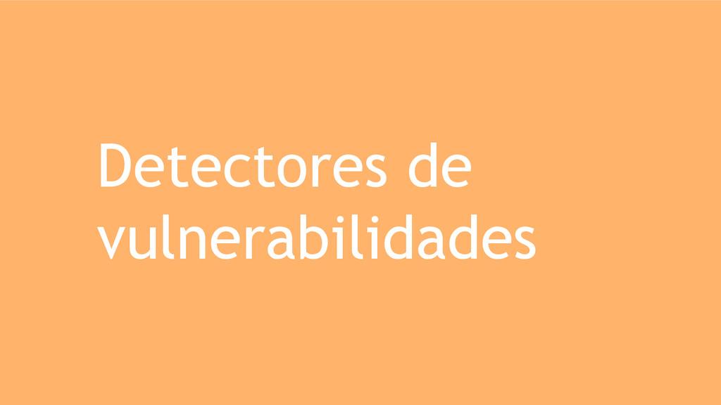 Detectores de vulnerabilidades