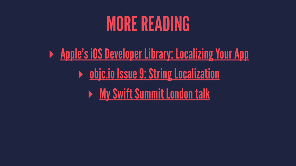 MORE READING ▸ Apple's iOS Developer Library: L...