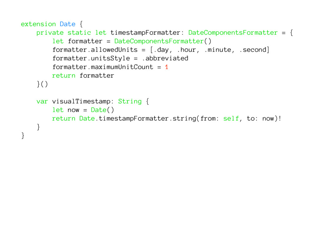 extension Date { private static let timestampFo...