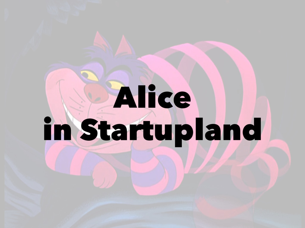 Alice in Startupland