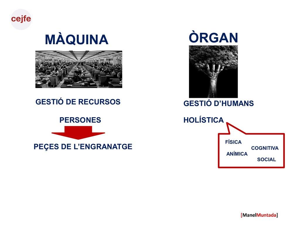 MÀQUINA GESTIÓ DE RECURSOS PERSONES ÒRGAN HOLÍS...
