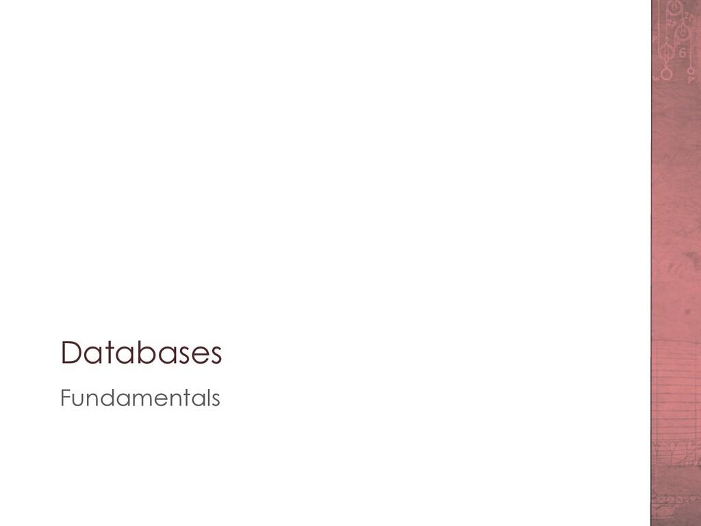 Databases Fundamentals