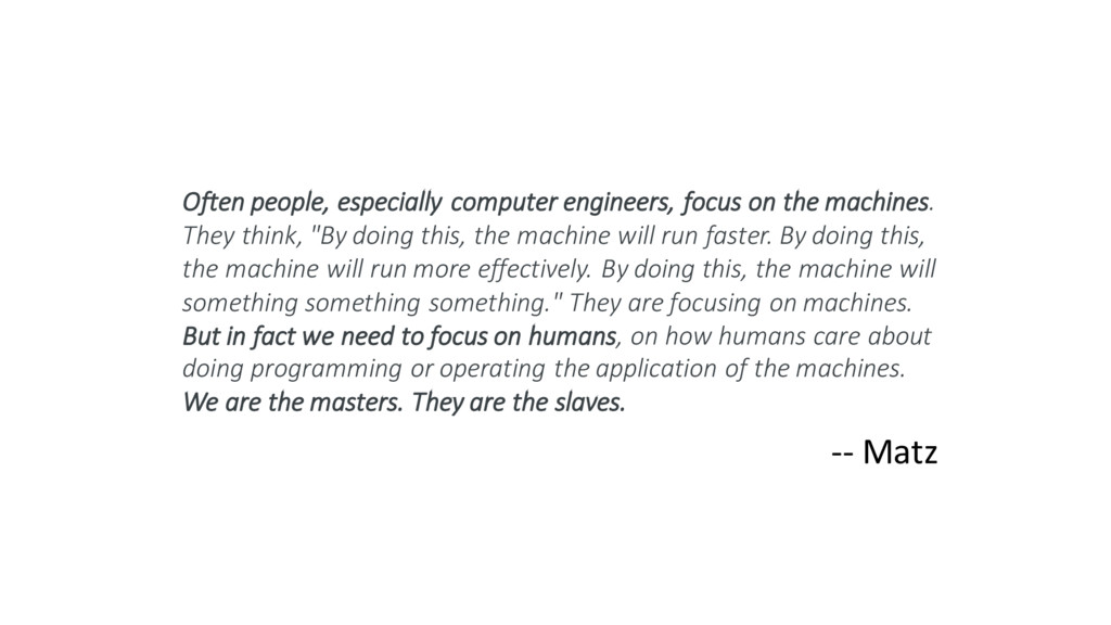 Often people, especially computer engineers, fo...