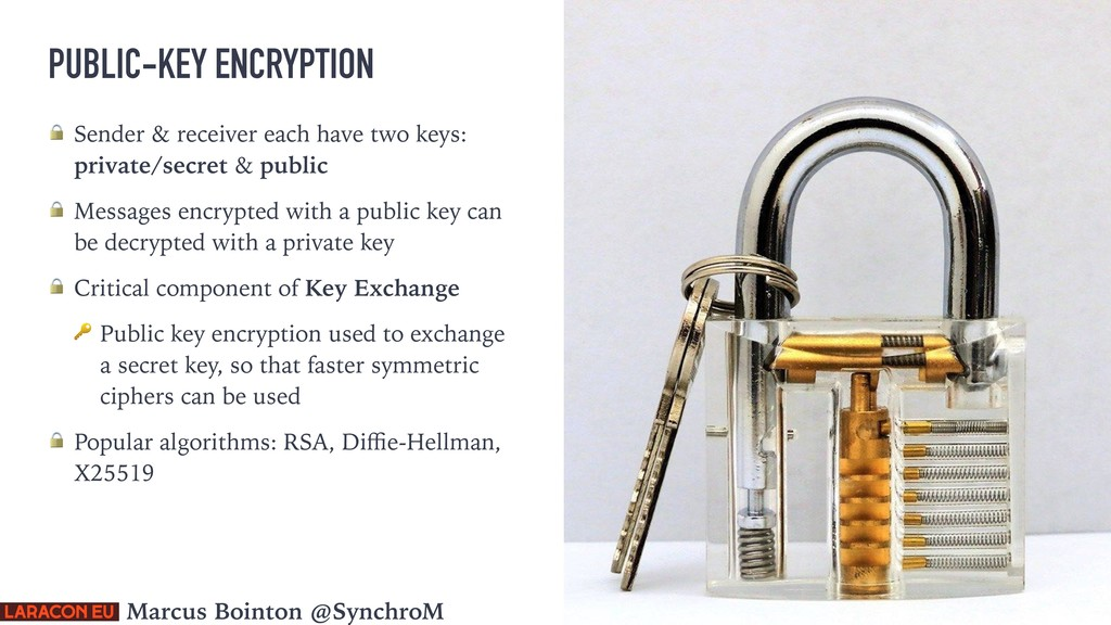 PUBLIC-KEY ENCRYPTION  Sender & receiver each h...