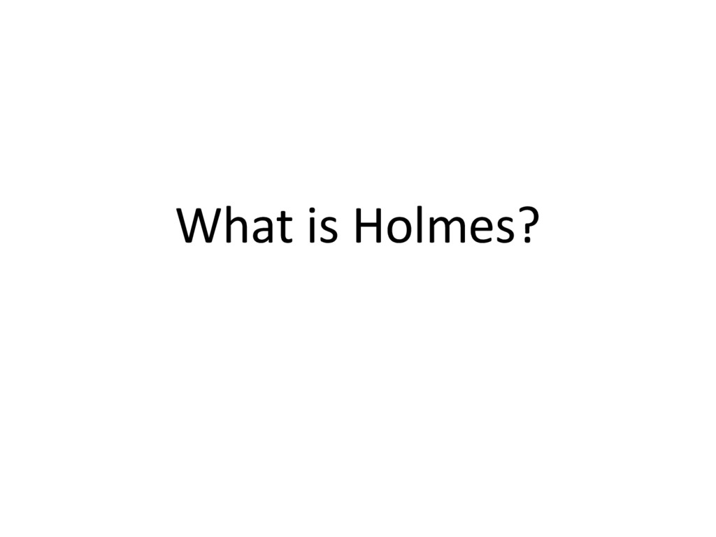 What is Holmes?