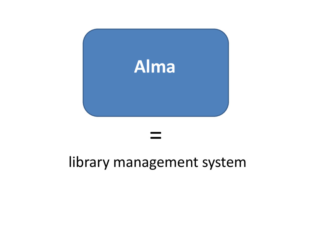 Alma = library management system