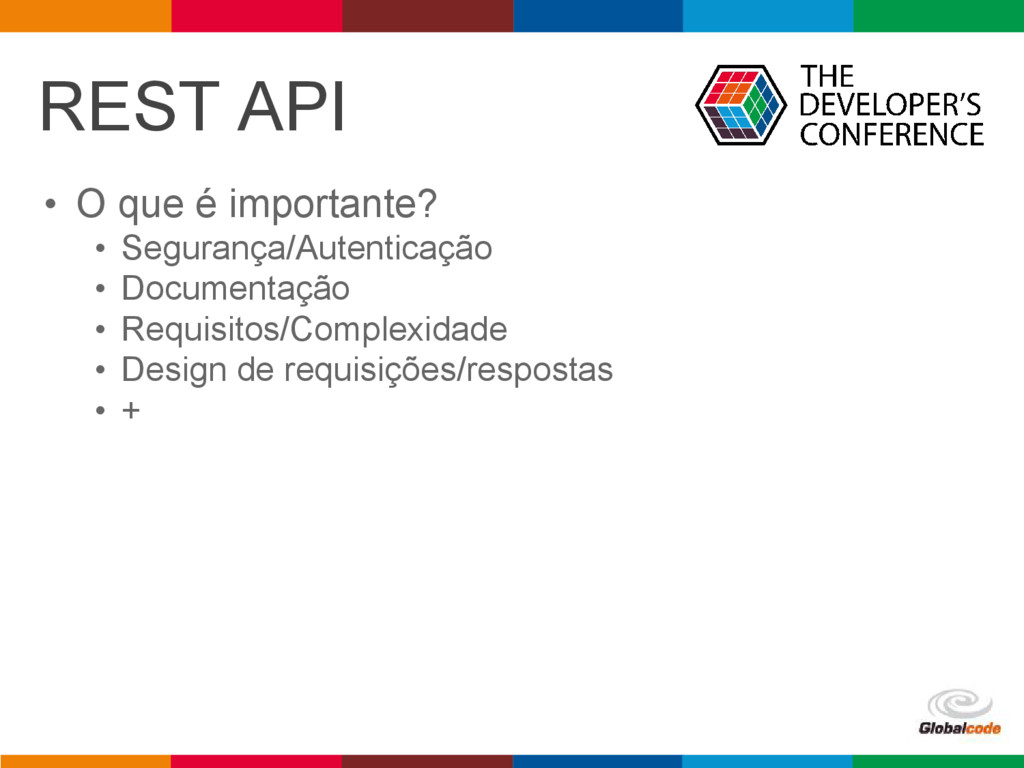 pen4education REST API • O que é importante? • ...