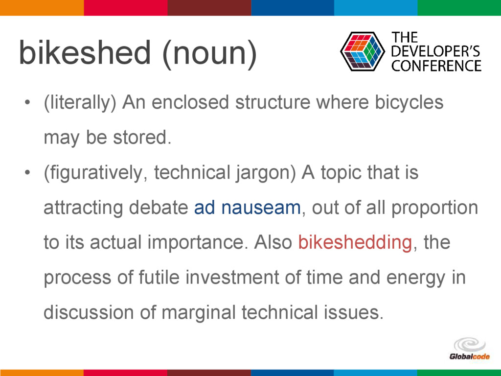 pen4education bikeshed (noun) • (literally) An ...