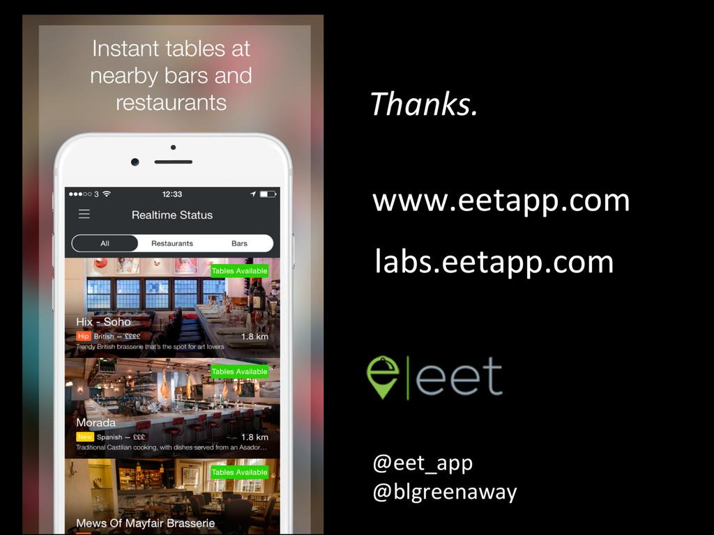 Thanks.  @eet_app    labs.eetapp.com...