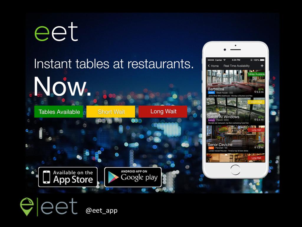 Discover, Eat, Share. @eet_app