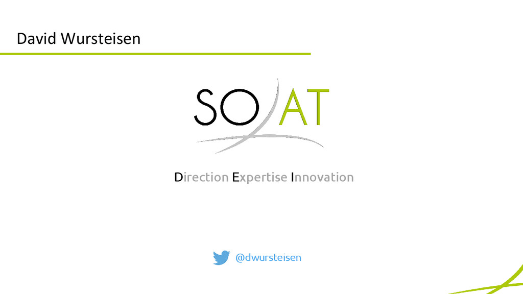 David Wursteisen @dwursteisen Direction Experti...