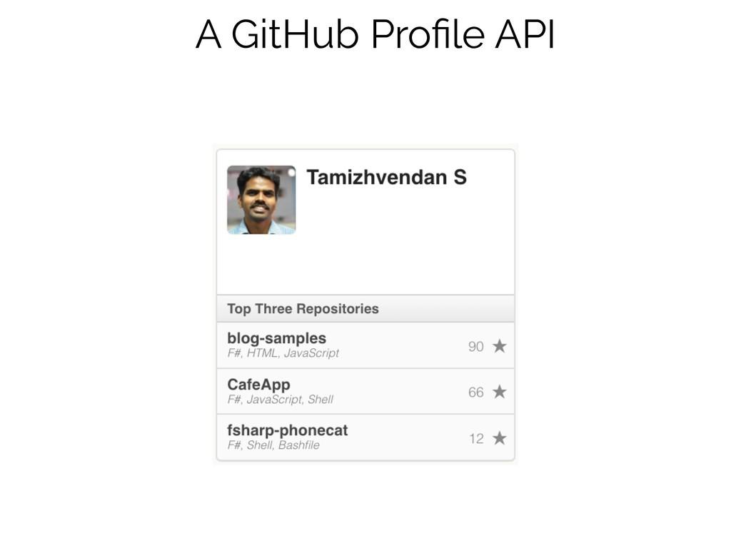 A GitHub Profile API