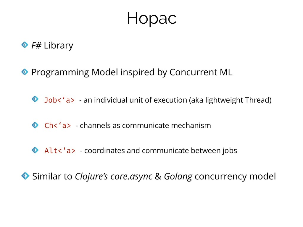 F# Library   Programming Model inspired by Conc...