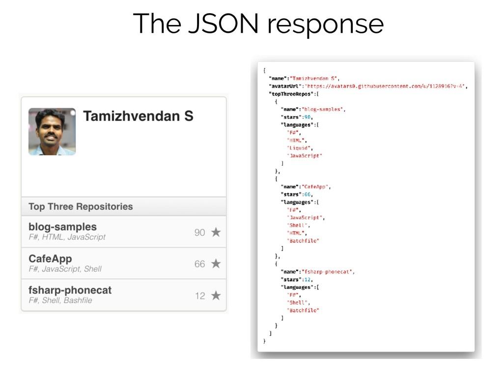 The JSON response