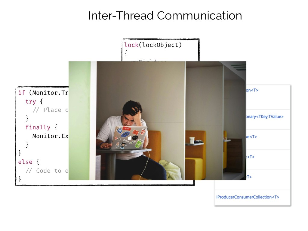Inter-Thread Communication if (Monitor.TryEnter...