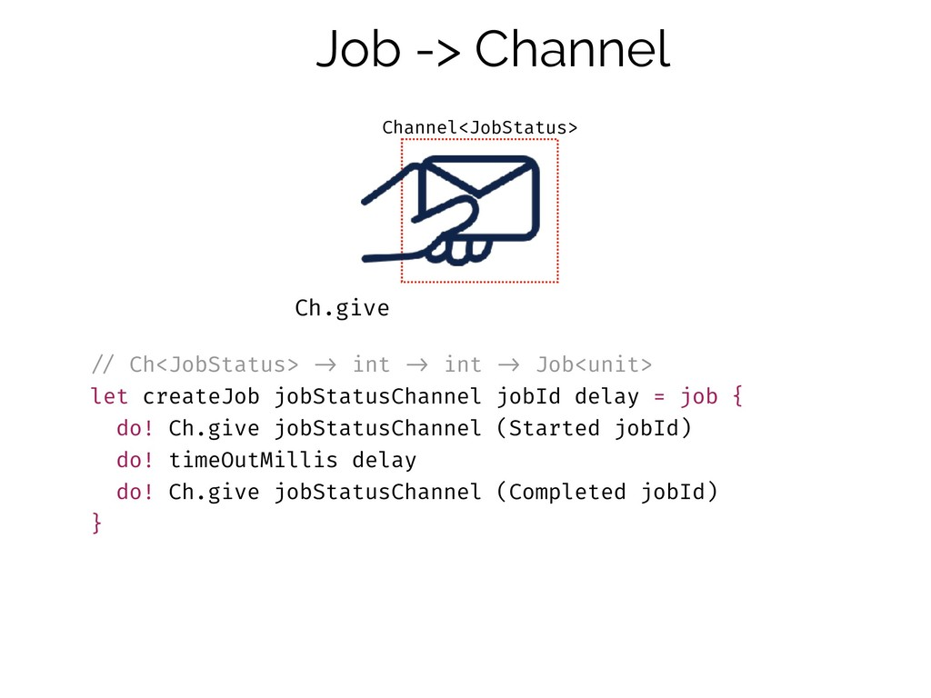 !// Ch<JobStatus> !-> int !-> int !-> Job<unit>...