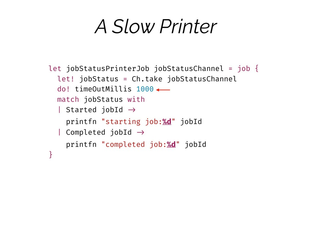 A Slow Printer let jobStatusPrinterJob jobStatu...