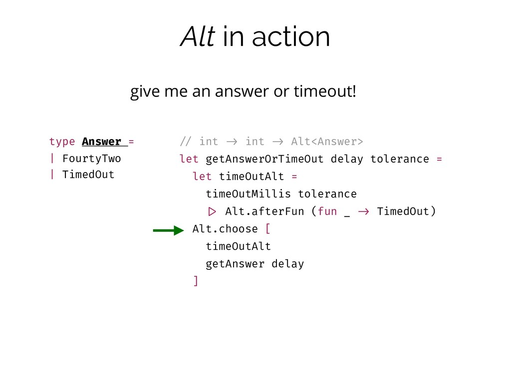 Alt in action give me an answer or timeout! typ...