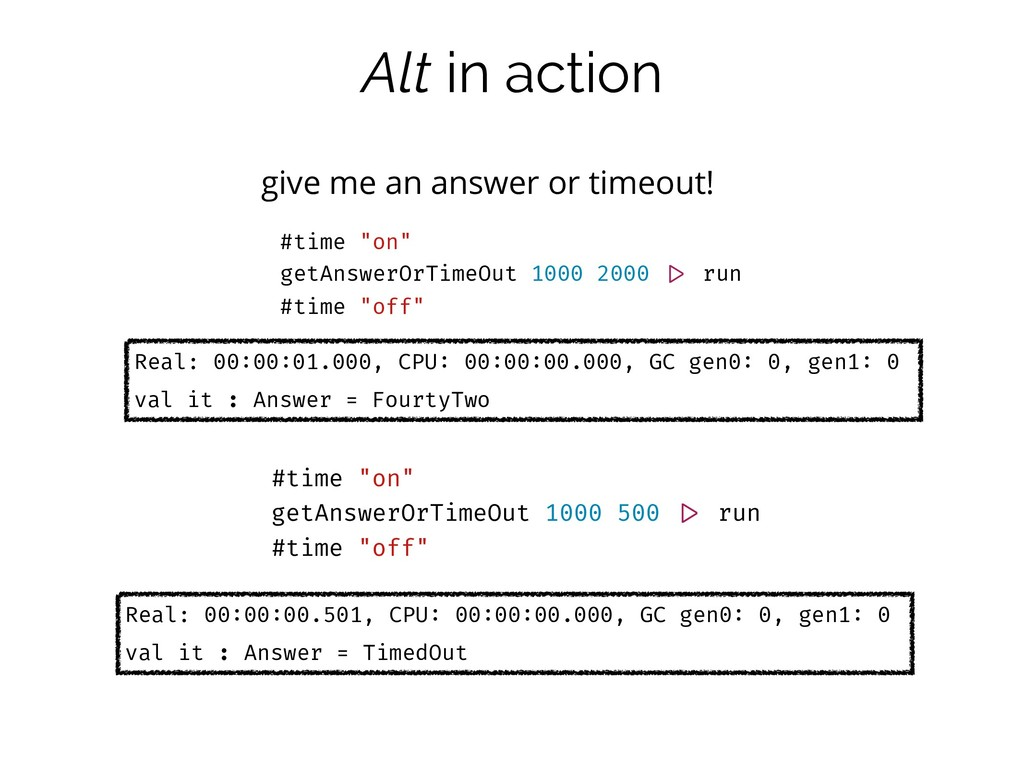 Alt in action give me an answer or timeout! #ti...