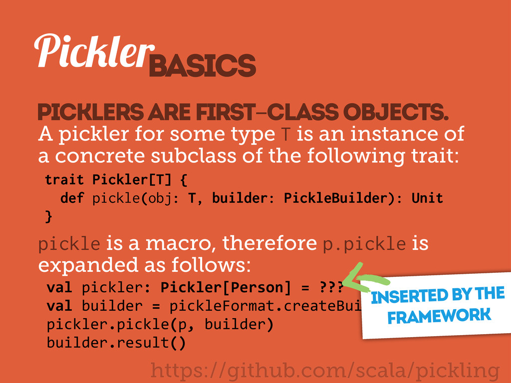 https://github.com/scala/pickling P r Picklers ...
