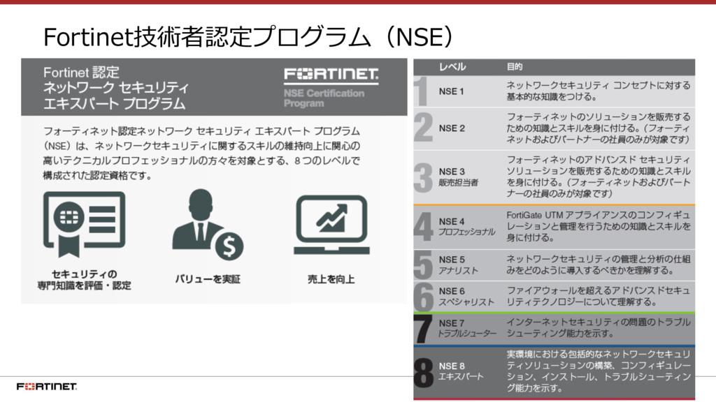 14 Fortinet技術者認定プログラム(NSE)