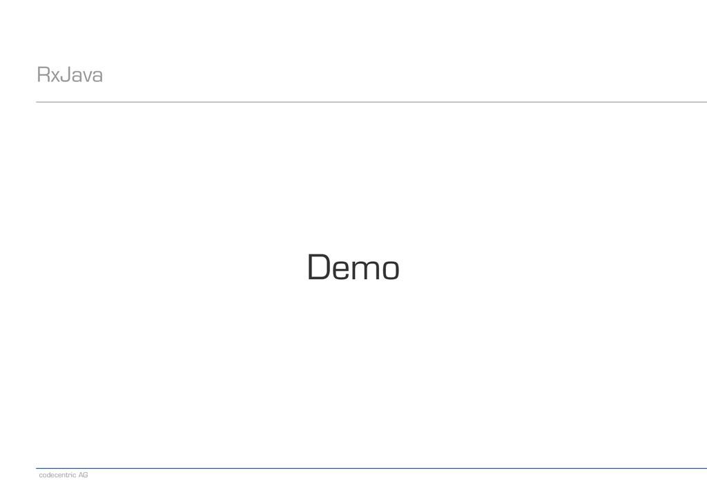 codecentric AG RxJava Demo