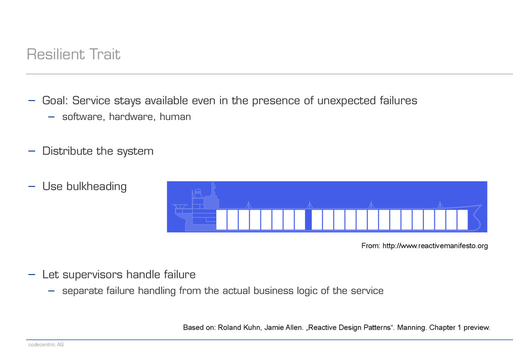 codecentric AG Resilient Trait − Goal: Service ...