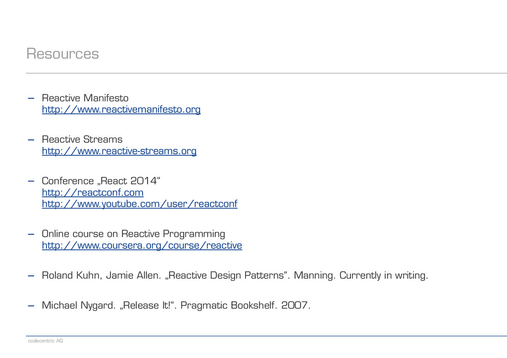 codecentric AG Resources − Reactive Manifesto ...