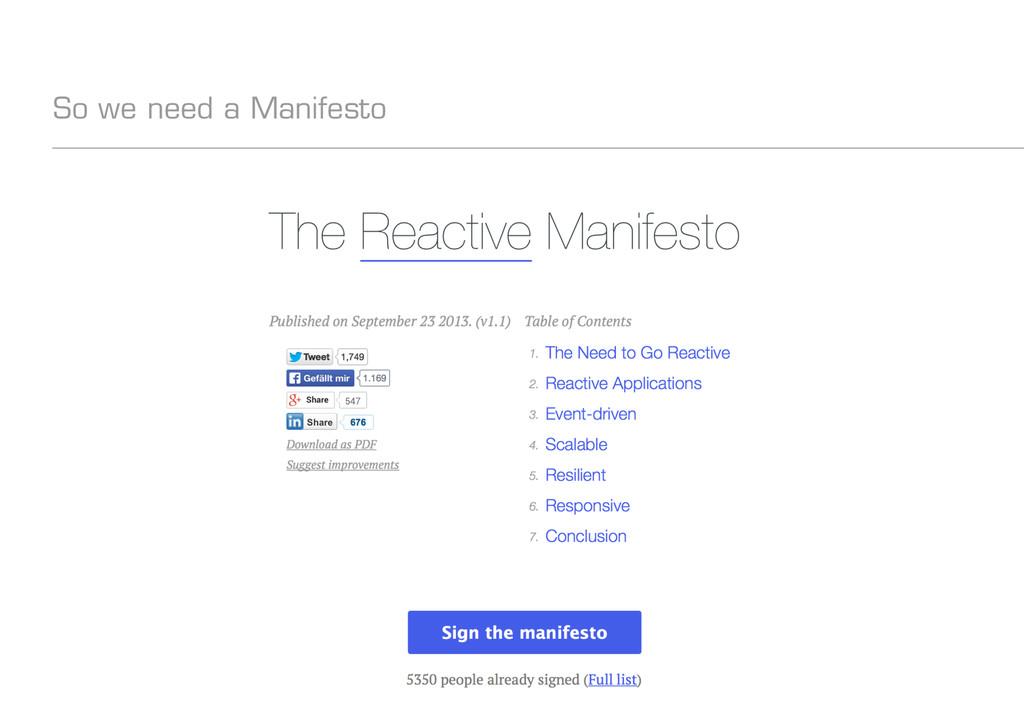 codecentric AG So we need a Manifesto